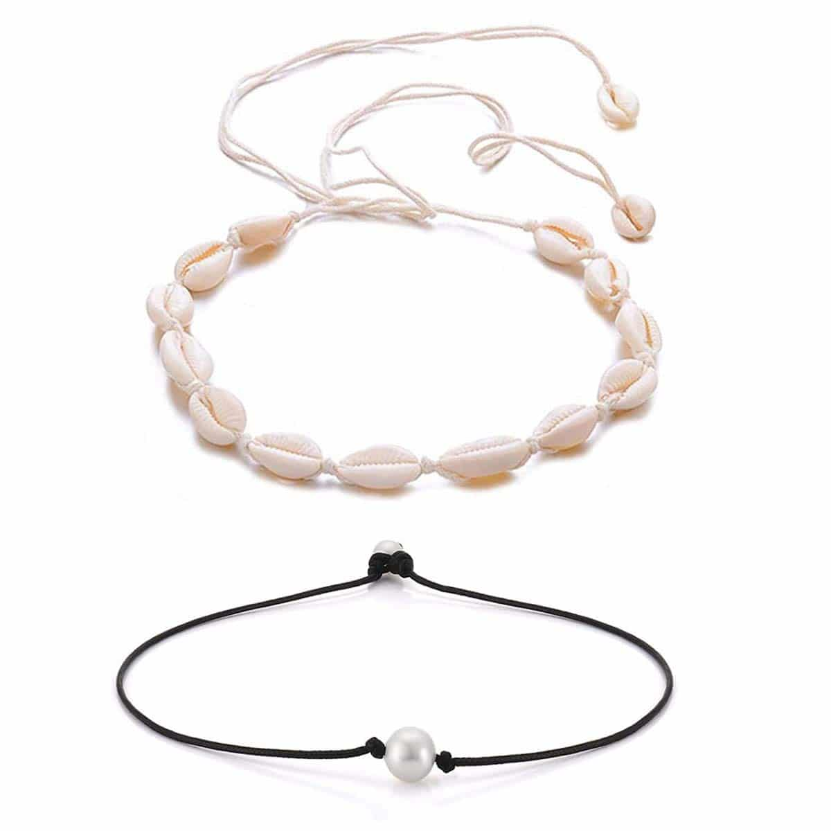 Cowrie Shell & Pearl Choker Necklace